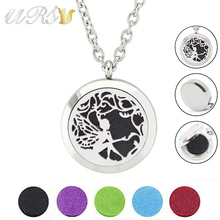 Buy 30mm magnetic 316L stainless steel essential oil diffusing necklace aroma locket pendant men (free felt pads, chain included) for $4.50 in AliExpress store