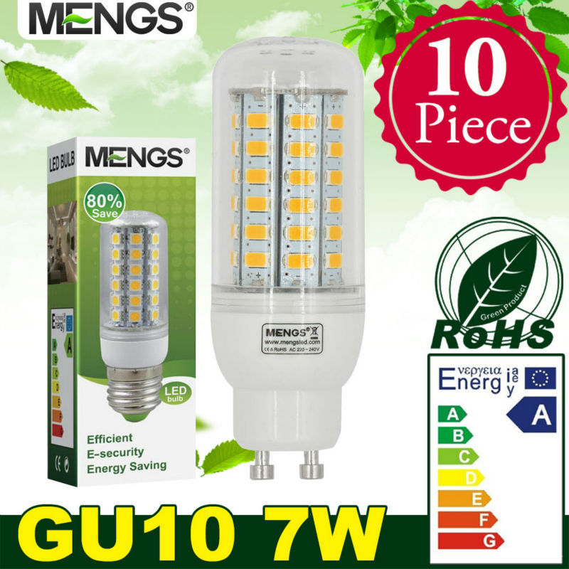 MENGS 10Pcs per pack GU10 7W LED Corn Light 56x 5730 SMD LEDs LED Bulb Lamp In Wram/Cool White Energy-Saving Light