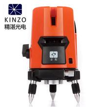 Envío gratis Kinzo 3 líneas 2V1H red 4 puntos línea láser de línea de la cruz nivel láser rotativo autonivelante nivel niveles láser