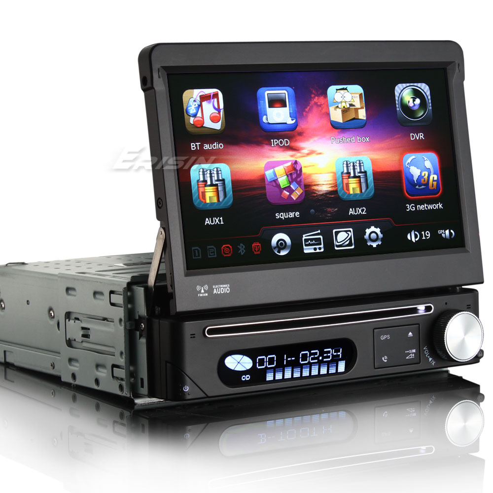 """7"""" Touch Screen One Din Car DVD 1 Din Car Radio Single Din Car GPS with Detachable Panel & Car Recorder Input Function(China (Mainland))"""