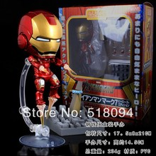 "Buy Free Cute Nendoroid 4"" Iron Man Mark 7 Tony Stark Set PVC Action Figure Collection Model Toy #284 HRFG081 for $12.59 in AliExpress store"