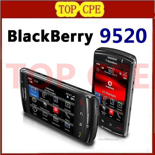 Original BlackBerry Storm2 9520 Cell Phone 3G GPS WIFI Touch Screen Free Shipping(China (Mainland))