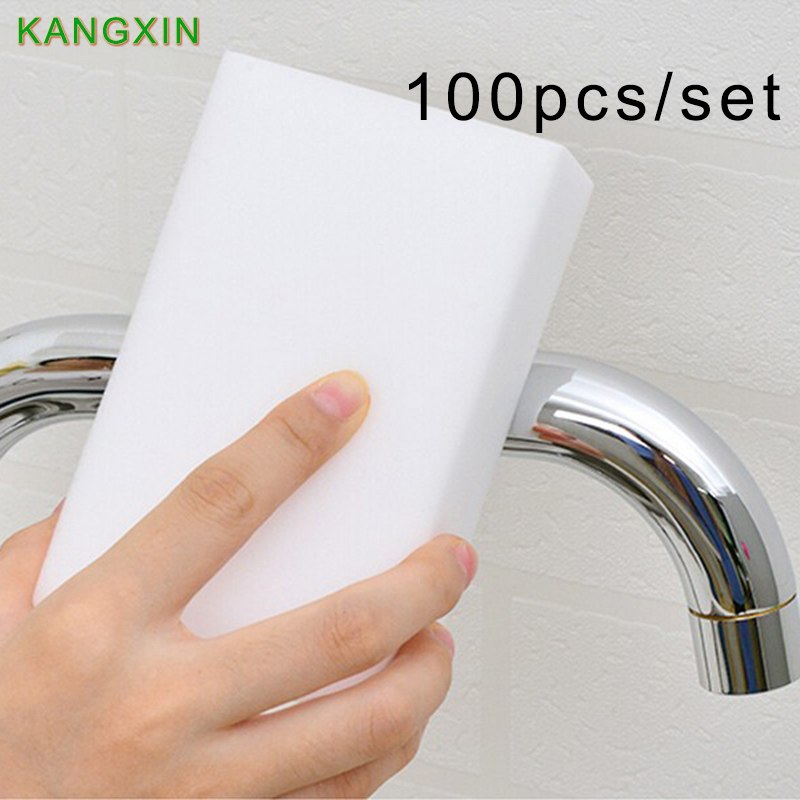High Density 100pcs Melamine Sponge Keyboard Cleaning Esponja Magica Kitchen Cleansers Magic Dust Cleaning Dishes Washing Eraser(China (Mainland))