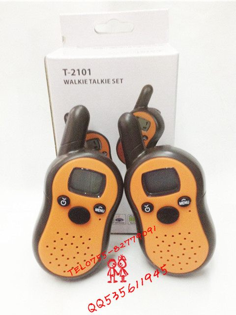 Pocket two way radio Mini walkie talkie T2101  0.5Watt as children gift ,outside travel  2pcs in a box free shipping