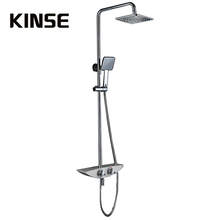 """Buy Free Thermostatic 38 Degrees Shower Set Air Power Brass Shower Head 8"""" & Rainfall Handheld Shower for $219.00 in AliExpress store"""