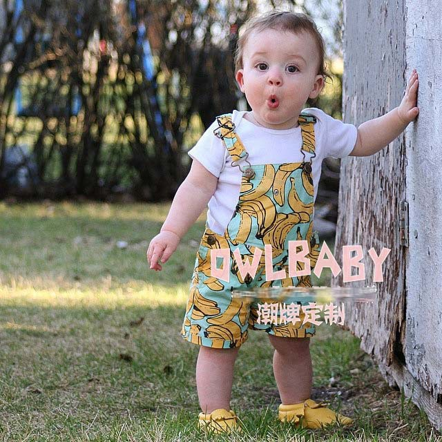 bobo choses Baby Boys Girls Overalls Banana Leaf Unisex Children Overall For Girl Boy Kids Jumpsuit Fashion Clothes overalls(China (Mainland))