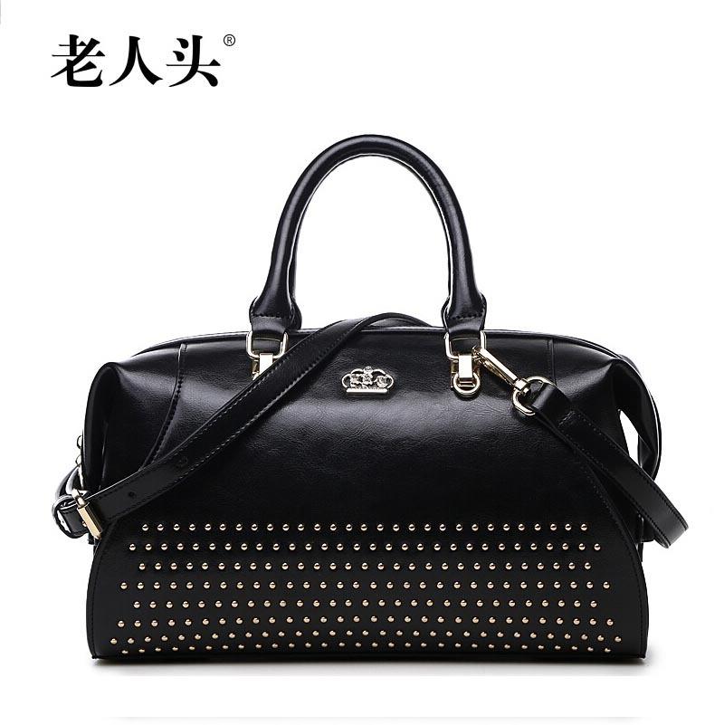 LAORENTOU Brand Luxury genuine leather handbag Hand-beaded vintage doctor bag Mobile Messenger,bags handbags women famous brands<br><br>Aliexpress