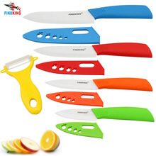 "FINDKING Brand top quality Mother's Day Gifts set Zirconia kitchen knife set Ceramic Knife set 3"" 4"" 5"" 6"" inch+ Peeler+Covers(China (Mainland))"