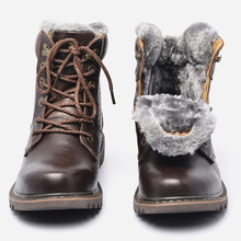 HECRAFTED Winter Snow Boots Super Warm Size 35~48 Genuine Natural Leather Handmade Men Winter Shoes #BG1570(China (Mainland))
