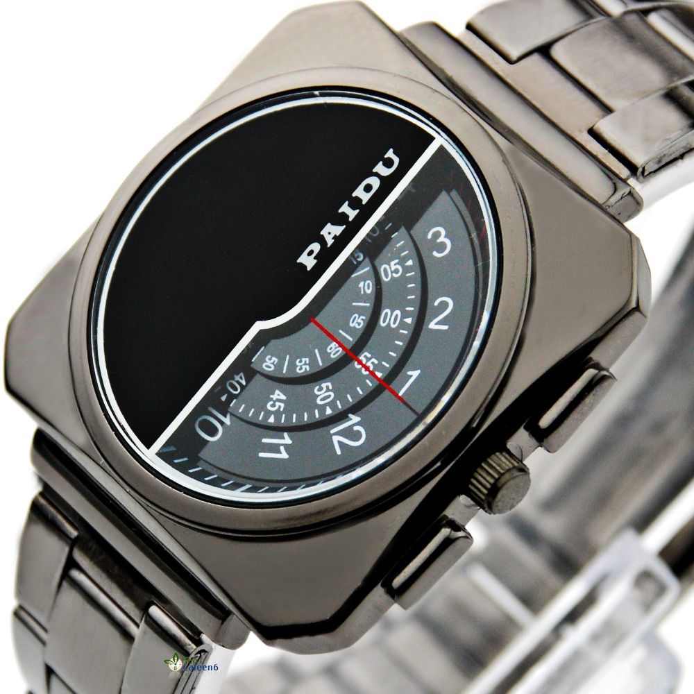 WPAIDU8813 Men Stainless Steel Watch Digital Pointer Table Design Men Watch Free Shipping(China (Mainland))