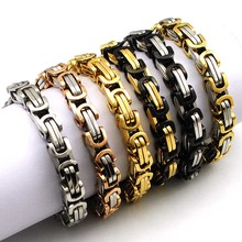 Buy Dolaime Hot Fashion Stainless Steel Bracelet Men Byzantine Link Chain Bracelets & bangles Pop Love Style, pulseira masculina for $2.69 in AliExpress store