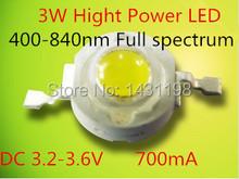 100 pcs/lot 3 W полный спектр растут чип 400-840nm из светодиодов расти лёгкие чип полный спектр растут из светодиодов чипсы 3,2 — 3.6V700ma