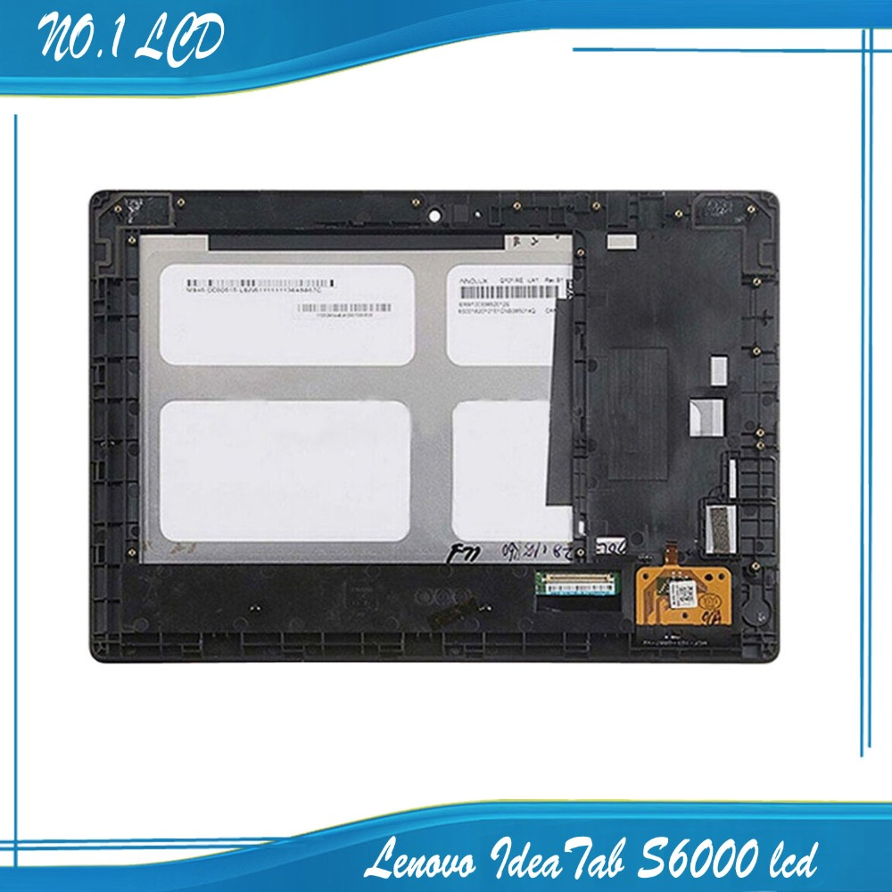 For Lenovo IdeaTab S6000 Full LCD Display Panel Touch Screen Digitizer Assembly With Frame Replacement Repairing Parts(China (Mainland))