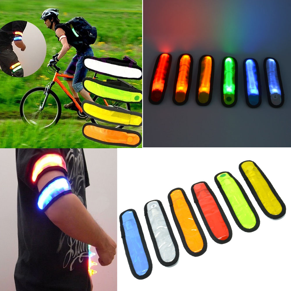 Reflective Flashing LED Glow Armband Wrist Ankle Visible Arm Belt Strap Sports Jogging Biking High Quality Safety Multicolor(China (Mainland))