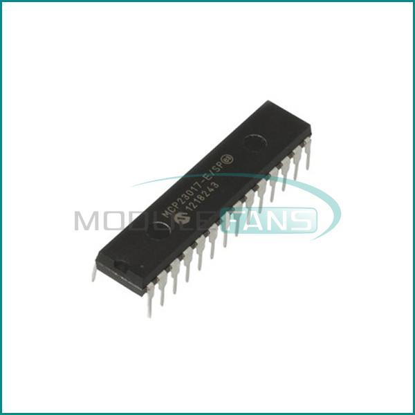 Гаджет  5PCS MCP23017-E/SP DIP-28 MCP23017 16-Bit I/O Expander with I2C Interface IC None Электронные компоненты и материалы