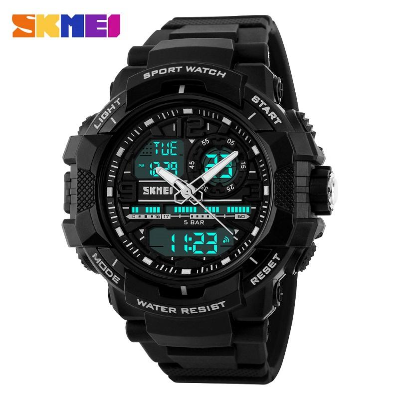 Big Dial 2016 SKMEI Men's Digital Watch S SHOCK Military Clock Men Watch Water Resistant Date Calendar LED Sports Watches Men(China (Mainland))