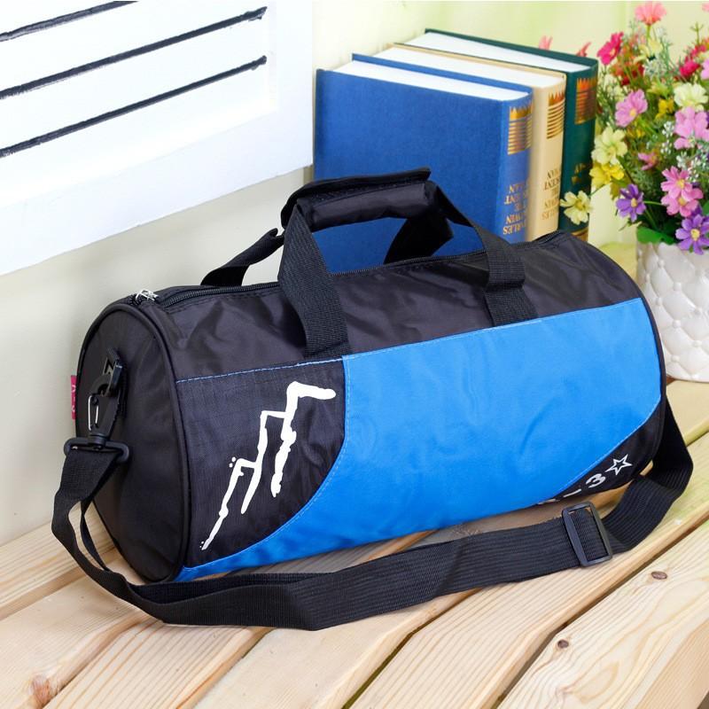 Korean Men's Sports Bag Essential Travel Bags Barrel-shaped School