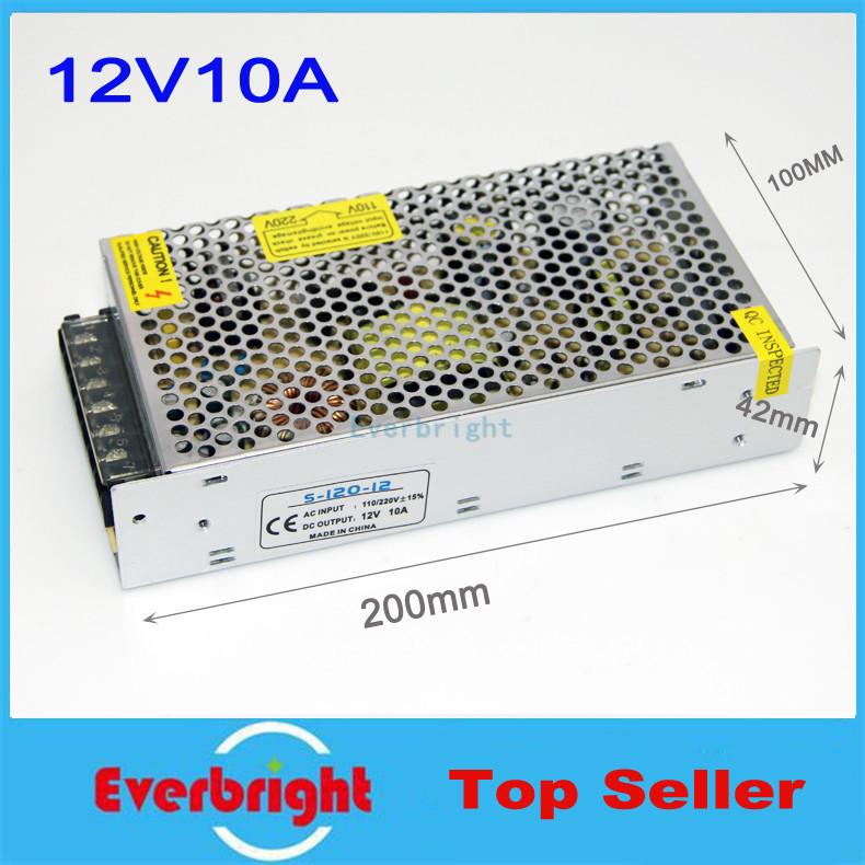Wholesales LED Power Supply 12V 10A 120W LED driver switch 12V DC LED transformer 110V/220V LED Strip adapter(China (Mainland))