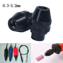 keyless drill chuck  for dremel Rotary Tools dremel Accessories 0.5-3.2mm mini drill chucks adapter for flexible drill shaft