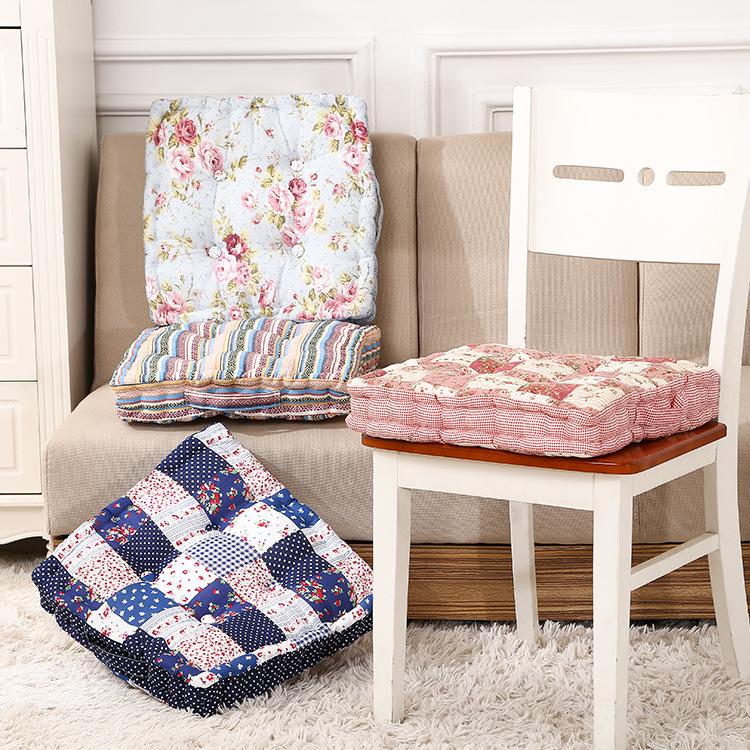 2015 Thick square comfort cushion High-grade cotton thicker cushion Office chair cushion Backrest cushions 40*40*7cm