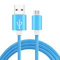 1M micro usb Charging Metal Nylon Braided Micro USB Cable for Samsung Xiaomi Meizu Huawei