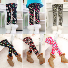 New Arrive winter girls leggings Children s 3 10 Y Warm Pant All Match Fleece thickening