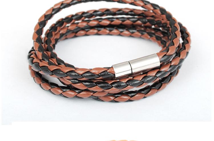 Продать много многослойная переплетения ман гламур кожаный браслет Pulseira Masculina Couro