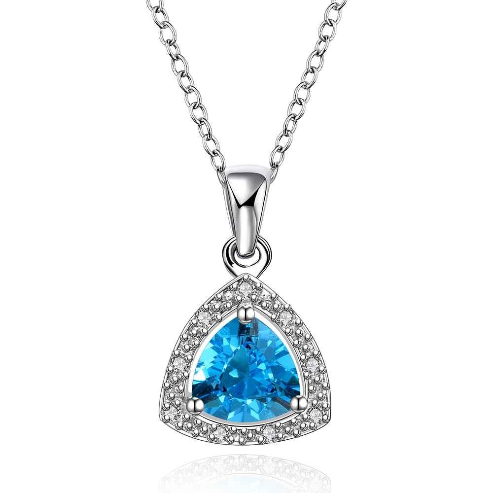 Ожерелье бесплатная доставка модный дизайн женщины голубой сапфир ювелирные изделия камень туфли-tenis masculino дисплей ювелирных FBLN005