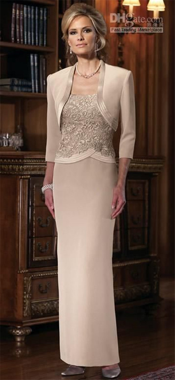 The Mother Of Bride Dresses With Bolero Jackets
