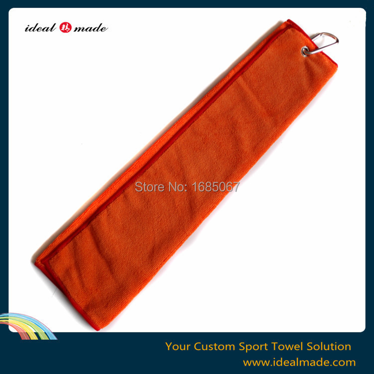200 pcs /lot Microfiber Promotional Embroidery Logo Customized Personalized Gym Sports towel with hook 40*60 cm(China (Mainland))