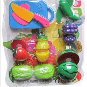 1 Set Baby Kid Plastic Kitchen Toys Childern Pretend Play Toys Kids Funny DIY Cut Fruit Toys(China (Mainland))