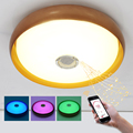 Bedroom 36W D47x12CM RGB Music LED Ceiling Light With Bluetooth Control Color Changing Lighting Led Ceiling