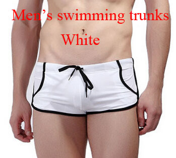 Thin, light and soft swimming trunks for men which has figure flattering effect with pockets and adjustable tie in low price.(China (Mainland))