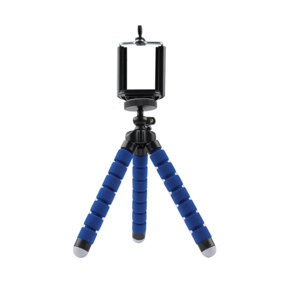 Blue Portable Phone Holder Digital Camera Flexible Octopus Leg Tripod Bracket Stand Adapter Mount Monopod Bubble For Mobile(China (Mainland))
