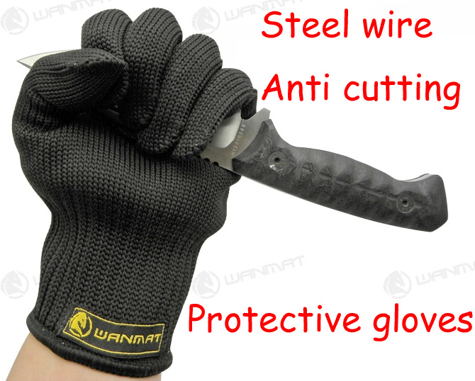 Гаджет  Workplace Safety Supplies Steel wire Prevent anti cutting gloves mitts Protective defend oneself safe anti riot glove None Безопасность и защита