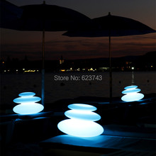 16 Colors Changeable Waterproof LED Zen Modern Indoor Outdoor Lighting Rechargeable,Glowing LED Tower Decor Lamp Pebble Light(China (Mainland))
