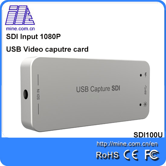 Mine SDI100U usb3.0/2.0 VIdeo capture card 1080P capture one channel SDI input signal dvr record card support Linux and windows(China (Mainland))