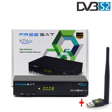 Buy Freesat V7 MAX+ 1 pc USB WiFi Support PowerVu Biss Key Cccam Newcam YouPorn Satellite Tv Receiver HD 1080P Set Top Box DVB-S2 for $48.22 in AliExpress store