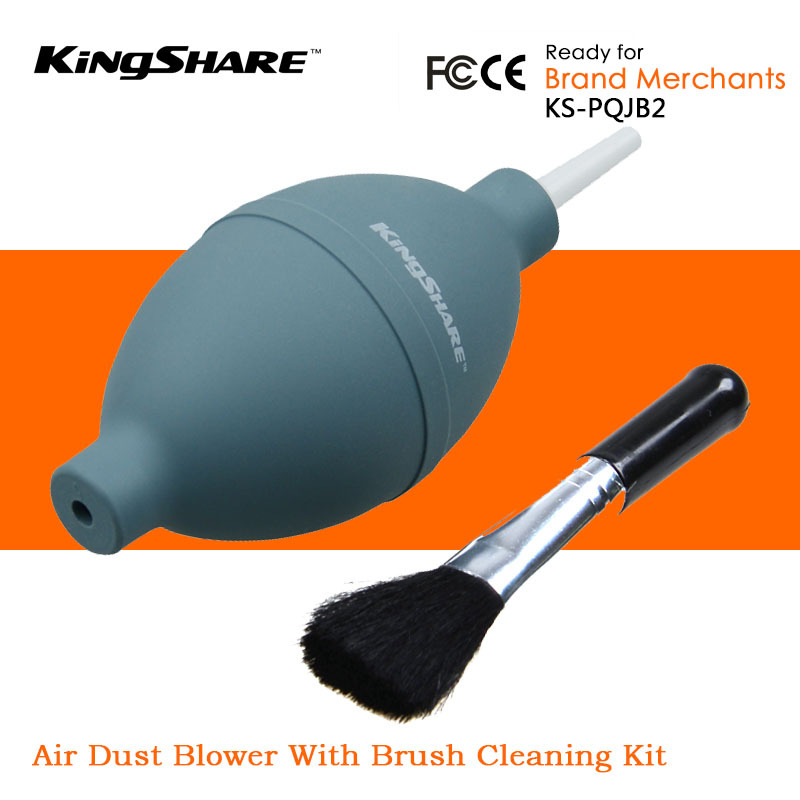 KingShare Air Dust Blower Blowing With Brush Cleaning Kit Suit For Laptop Camera Digital SLR Lens Watch(China (Mainland))