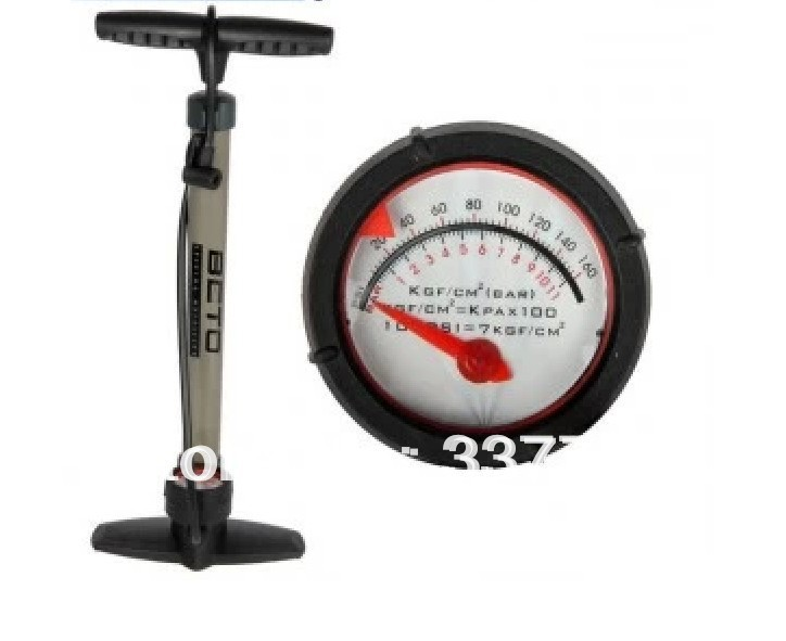 Free shipping by tracking Portable Mini floor Frame Bike Pump CMP-074S Cycling Bicycle Tire Air Pump with Gauge(China (Mainland))