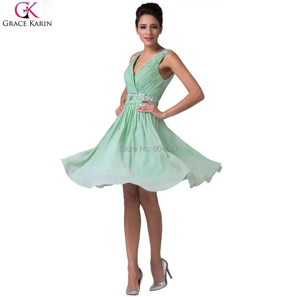 buy robe bal de promo grace karin chiffon short wedding party dress vestido. Black Bedroom Furniture Sets. Home Design Ideas