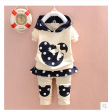 new arrived spring autumn baby girls clothing set children girls set babi girls clothing sets Hoodies+pants kids clothes(China (Mainland))