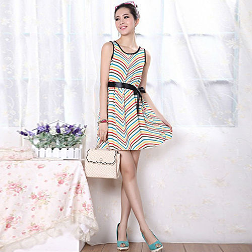 Buying Cute Cheap Summer Clothes Online Strap Bow Women Dress