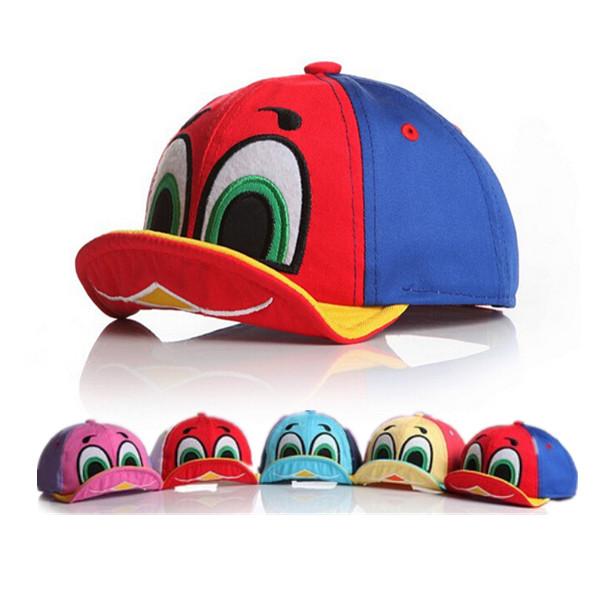 New 2015 Hot Sale Cute Design Baby Boy Girl Cartoon Duck Hat Kid Sun Hat Baseball Caps Children Clothing Accessories 5 Colors(China (Mainland))