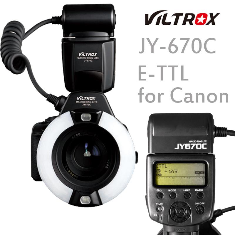 VILTROX JY-670C E-TTL Auto Exposure Macro Ring Lite Flash Speedlite for Canon DSLR Cameras(China (Mainland))