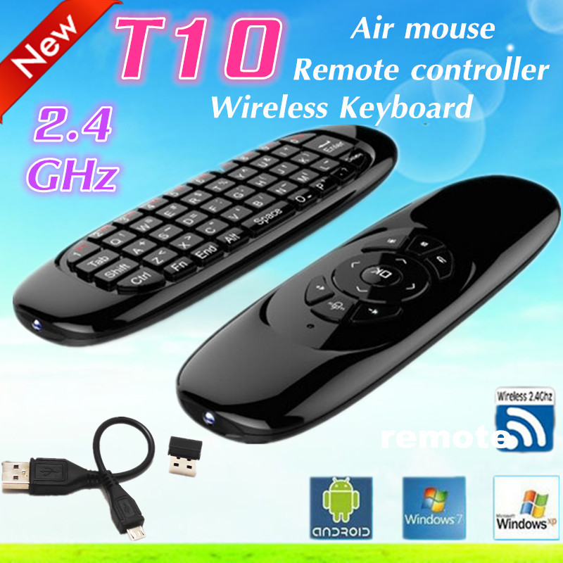 2.4GHz T10 C120 Wireless keyboard gyroscope remote control Sensor MINI Fly Air Mouse keyboard mouse For Android TV Box Mini PC(China (Mainland))