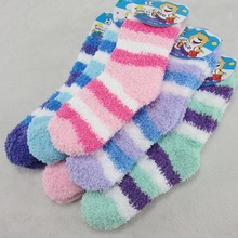 (6 pairs/lot)  Colorful Cashmere baby toddler socks warm winter socks non slip for 0-3 Years baby(China (Mainland))