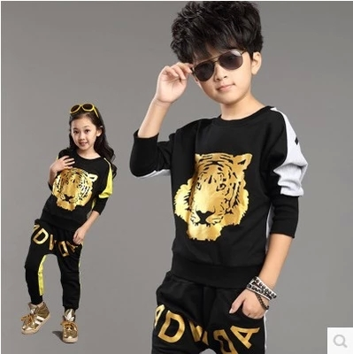 kids clothing sets long sleeve t shirt + pants autumn spring children's sports suit Tracksuit boys/girls clothes free ship C1060(China (Mainland))