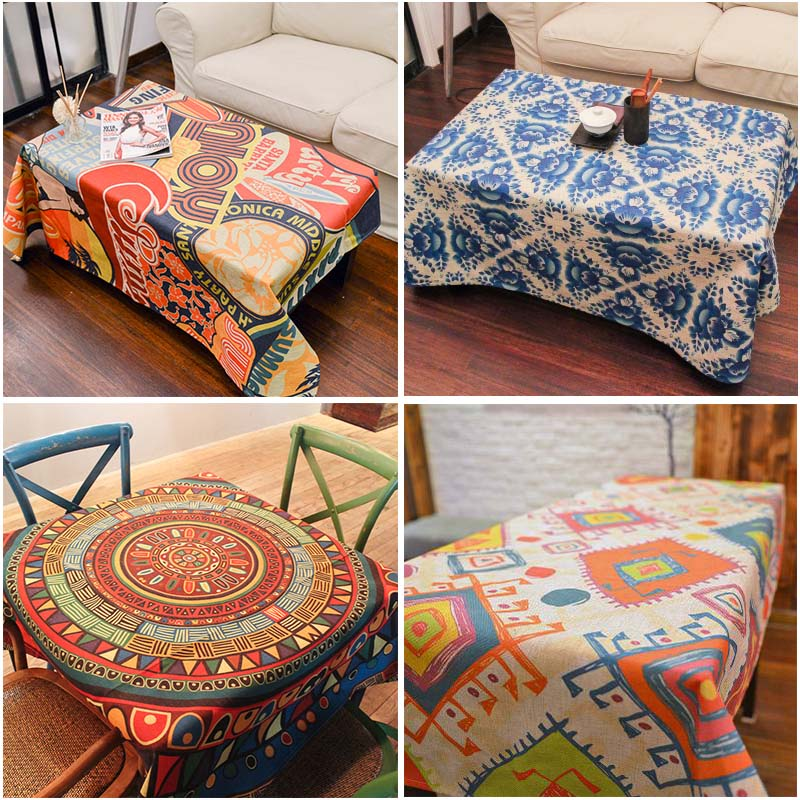 85*85cm thick cloth pounds linen tablecloths dining room table cloth tablecloth.(China (Mainland))