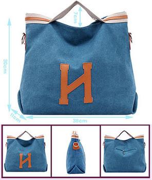 2015 Brand designer women canvas handbag New  Fashion totes bag women messenger bag shoulder bag